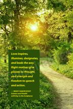 Love inspires ... (V24)
